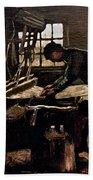 Van Gogh: Weaver, 1884 Bath Towel