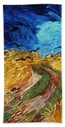 Van Gogh: Wheatfield, 1890 Bath Towel