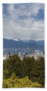 Vancouver Bc Skyline Daytime View Hand Towel