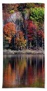 Vanishing Autumn Reflection Landscape Bath Towel