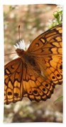 Variegated Fritillary Bath Towel