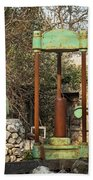 Various Old Rusty Vintage Agricultural Devices In Croatia Bath Towel