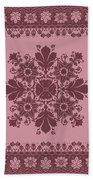 Vector Abstract Ethnic Shawl Floral Pattern Design For Backgroun Bath Towel