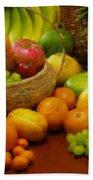 Vegetables And Fruits  Bath Towel