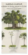 Vegetation, Gualtherus Kolff, Esquire After Josias Cornelis Rappard, 1868 - 1881 Bath Towel
