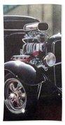 Vehicle- Black Hot Rod  Bath Towel