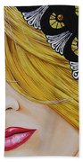 Veiled Woman Bath Towel