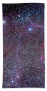 Vela Supernova Remnant In The Center Bath Towel