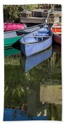 Venice Canal Reflections Bath Towel