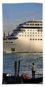 Venice Cruise Ship 2 Hand Towel