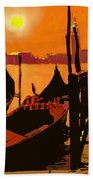 Venice In Orange Hand Towel