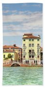 Venice In Summer  Bath Towel