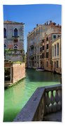 Venice Italy Canal And Lovely Old Houses Bath Towel