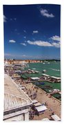Venice Lagoon Panorama - Bird View Bath Towel