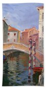 Venice Ponte Vendrraria Bath Towel