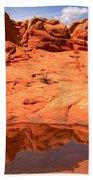Vermilion Cliffs Reflections Bath Towel