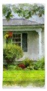 Vermont Farm House Kent Corner Watercolor Hand Towel by Edward Fielding