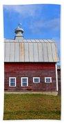 Vermont Farm Woodstock Vt Red Barn Bath Towel