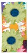 Vertical Daisy Collage II Bath Towel