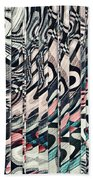 Vertical Graphic Layers Bath Towel