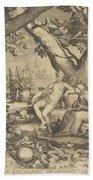 Vertumnus And Pomona, 1605  Bath Towel