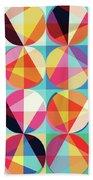 Vibrant Geometric Abstract Triangles Circles Squares Bath Towel