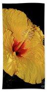 Vibrant Yellow Hibiscus By Kaye Menner Bath Towel