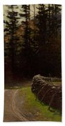 Victor Coleman Anderson  1882  1937 Road By The Woods Bath Towel