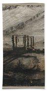 Victor Hugo   Gallows Of Montfaucon   1847 Bath Towel
