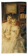 Victorian Family Scene Bath Towel