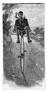 Victorian Gentleman On A Penny-farthing Bath Towel