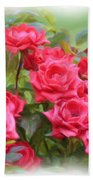 Victorian Rose Garden - Digital Painting Bath Towel