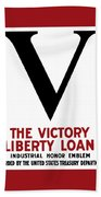Victory Liberty Loan Industrial Honor Emblem Hand Towel