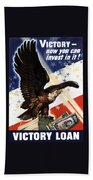 Victory Loan Bald Eagle Bath Towel
