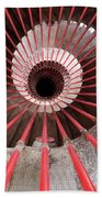 View Down The Steel Double Helix Spiral Staircase At The Ljublja Bath Towel
