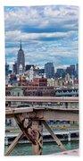 View From Brooklyn Bridge Bath Towel