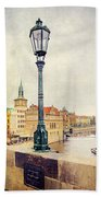 View From Charles Bridge Bath Towel