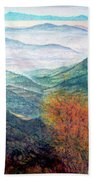 View From The Autumnal Belchen   Bath Towel