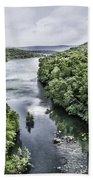 View From The Monksville Bridge Bath Towel
