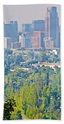 View From Wealthy Neighborhood In Hills Of Santiago-chile Bath Towel