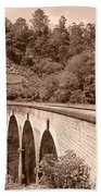 View Of Ancient Bridge Bath Towel