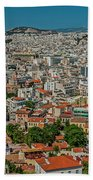 View Of Athens, Greece, From The Parthenon Bath Towel
