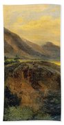 View Of Bagneres De Luchon. Pyrenees Bath Towel
