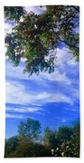View Of Countryside In Frederick Maryland In Summer Bath Towel