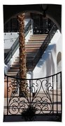 View Of Courtyard Through Adobe Doorway Photograph By Colleen Bath Towel