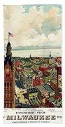 View Of Milwaukee 1898 Bath Towel
