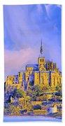 View Of Mont Saint Michel Bath Towel