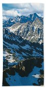 View Of Mountains, Table Mountain Bath Towel