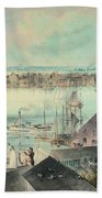 View Of New York From Brooklyn Heights Ca. 1836, John William Hill Bath Towel