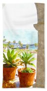 View Of San Clemente Pier Hand Towel